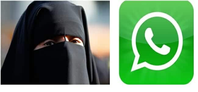A woman penalized for WhatsAapp