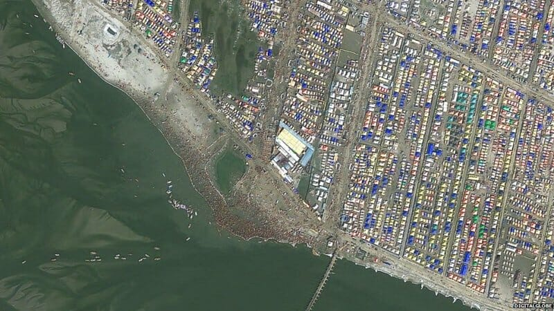 Kumbh Mela from space