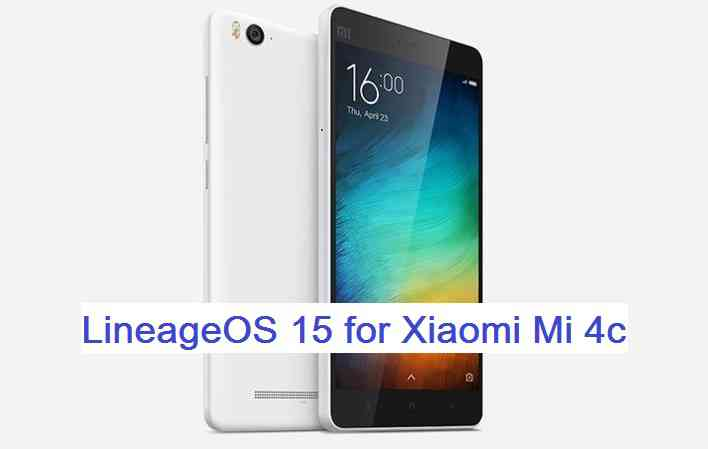 download and install Android Oreo on Xiaomi Mi 4C based on LineageOS 15