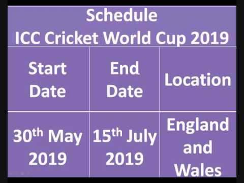 World cup photos in india 2019 schedule time table venue details