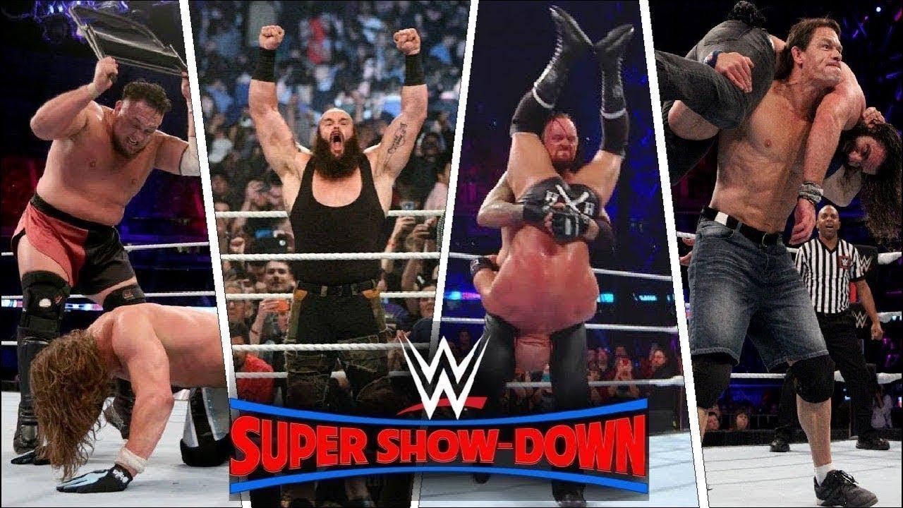 WWE Super ShowDown 2018 Highlights