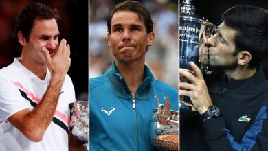 Federer, Nadal and Djokovic: