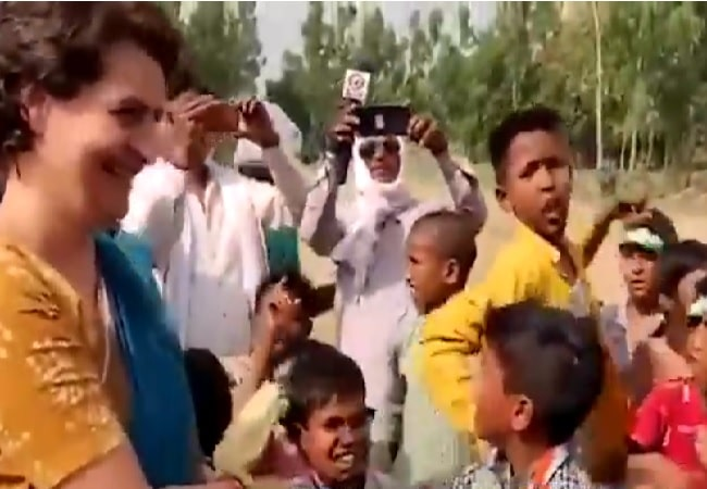 Priyanka Gandhi rallying in Amethi for brother Rahul Gandh