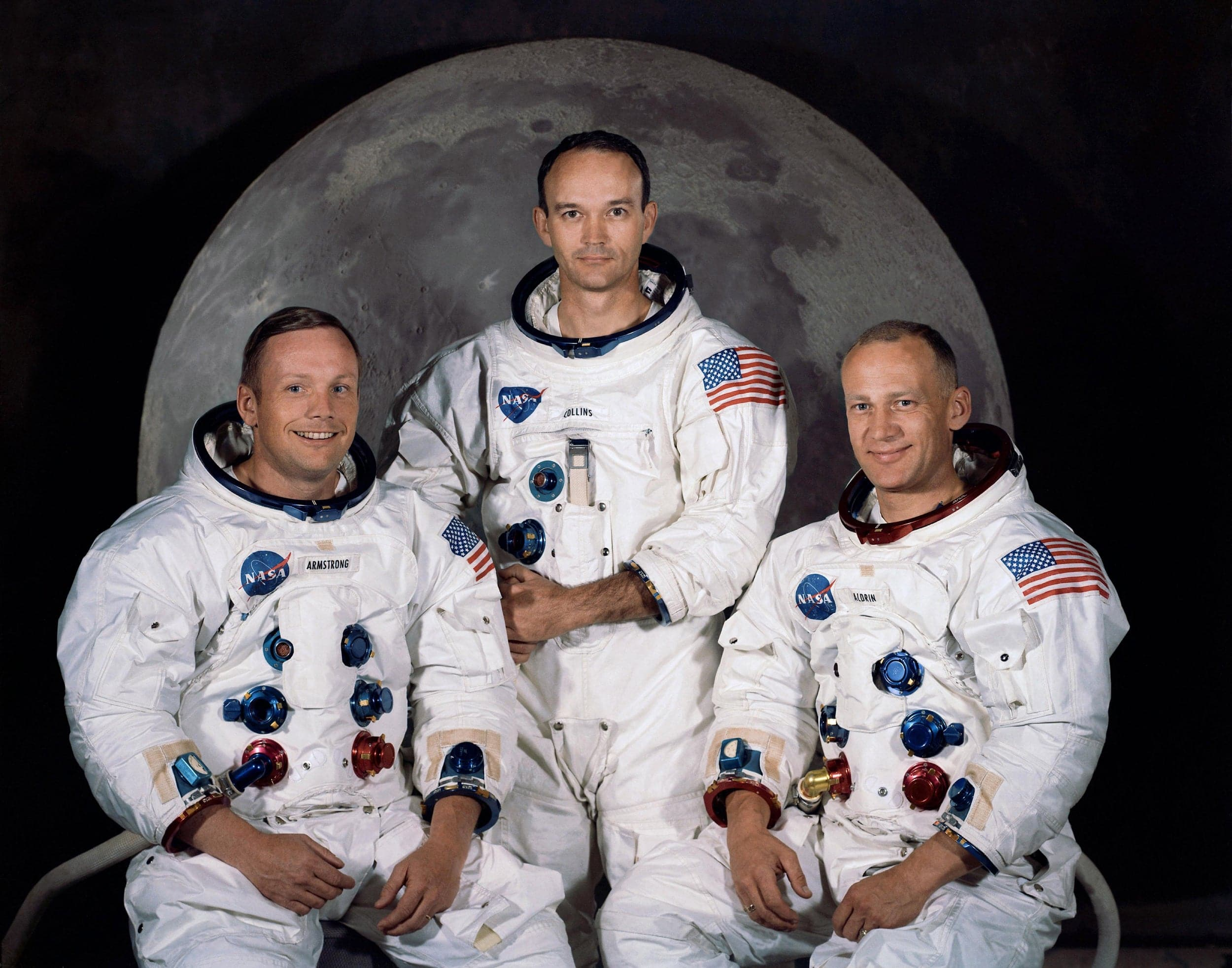 The three astronauts of Apollo 11