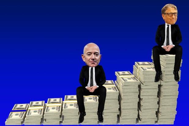 "Amazon CEO bill gates lost his title as ""The world's richest"" person"