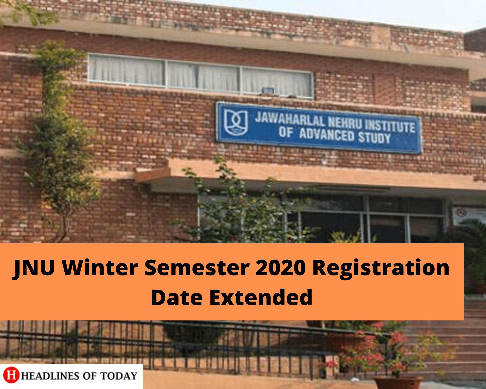 JNU Winter Semester 2020