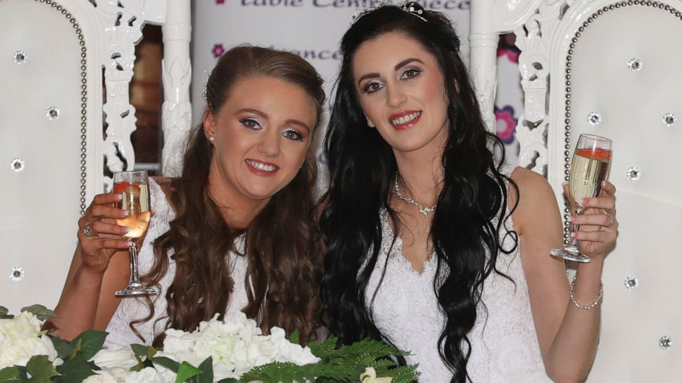 Photo of Two Women Ties The Knot Of The First Same-Sex Marriage In Northern Ireland
