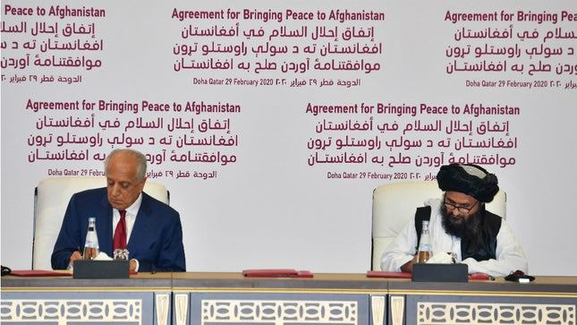 Photo of US signs historic peace deal with the Taliban. Check out the details