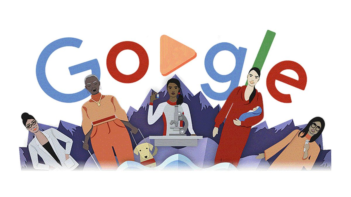 March 8   Lets celebrate International Women's Day with Google doodle