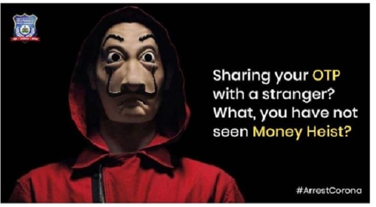 Photo of Bengaluru Police Spreads Cyber Fraud Awareness With 'Money Heist' Meme