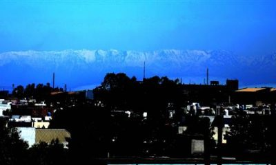 Jalandhar residents saw a rare view of snow-capped Himalaya mountains