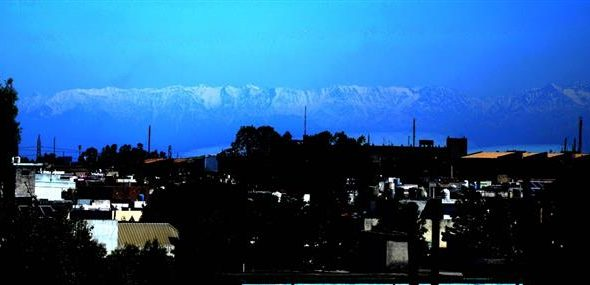 Jalandhar residents saw a rare view of snow-capped Himalaya mountains